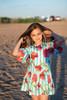 Sophie Catalou Girls Toddler & Kids Turquoise Nina Dress 4-8y