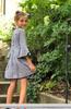 Sophie Catalou Girls Toddler & Kids Black and White Corrine Dress 2-9/10y