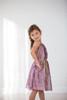 Sample Sale Purple Blush Floral Sheer-Overlay A-Line Dress