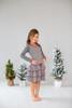 Sample Sale  Dark Melange Polka Dot Ruffle Dress