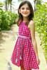 Sample Sale Fuchsia Check Dress