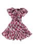 Sophie Catalou Girls Toddler & Kids Wine Faux Wrap Dress 3-12y