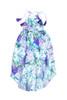 Sophie Catalou Girls  Toddler & Kids San Remo Wisteria Floral Halter Dress 2-12y