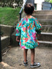 Sophie Catalou Girls Toddler & Kids Maldives Hibiscus Off-Shoulder Dress  4-7/8y