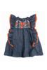 Sophie Catalou Girls Toddler & Kids Denim Blue Embroidered Kate Dress  2-10y