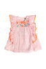 Sophie Catalou Girls Toddler & Kids Peach Embroidered Kate Dress  2-10y