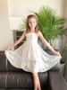 Sophie Catalou Girls Toddler & Kids Silver Amelie Tiered Dress 18m-9/10y