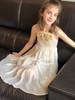 Sophie Catalou Girls Toddler & Kids Gold Amelie Tiered Dress 18m-9/10y