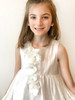 Sophie Catalou Girls Toddler & Kids White Amelie Flower Girl  Dress 2-9/10y
