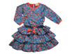 Sophie Catalou Girls Infant Toddler & Kids Noche Blue Ruffle Dress 2-8y