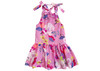 Sophie Catalou Drop Waist Mauvel Floral Dress in light weight cotton