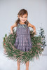 Sophie Catalou Girls Infant Toddler & Kids Gunmetal Sveta Dress 2-10y