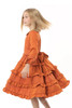 Sophie Catalou Girls Infant Toddler & Kids Orange Tatiana Dress 2y