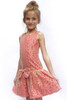 Sophie Catalou Girls Toddler & Kids Crimson & Gold Lace Drop-Waist Dress 2-4