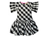 Sophie Catalou Girls Toddler & Kids Black and White Yumi Dress 2-12y