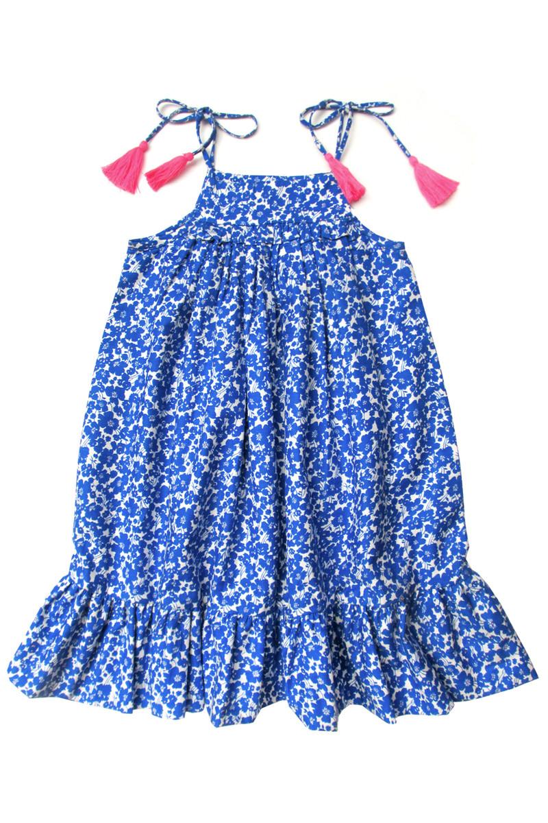 1f193453130 Sophie Catalou Girls Toddler   Kids Blue floral Dress 2-10y - Sophie Catalou