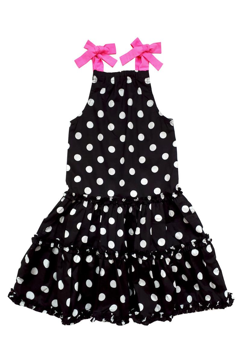 57e63d920 Sophie Catalou Girls Toddler   Kids Black   White Polka Dot Dress 5 ...