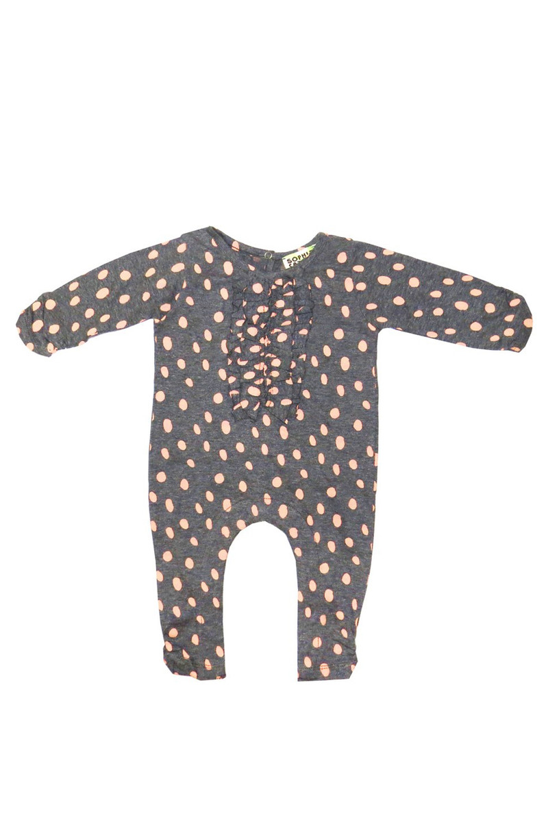91c080b4debf Sophie Catalou Girls Toddler   Kids Blush Dalmatian Romper 3m-12m ...
