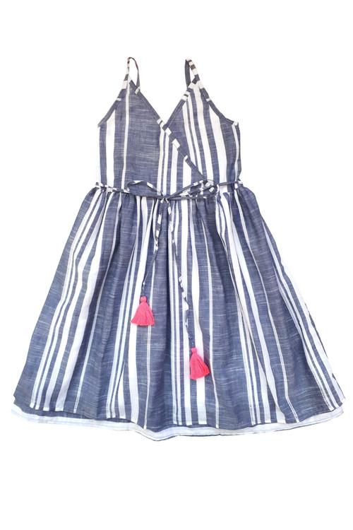 Sophie Catalou Girls Toddler & Kids Eyelet Stripe Dress 4-8y