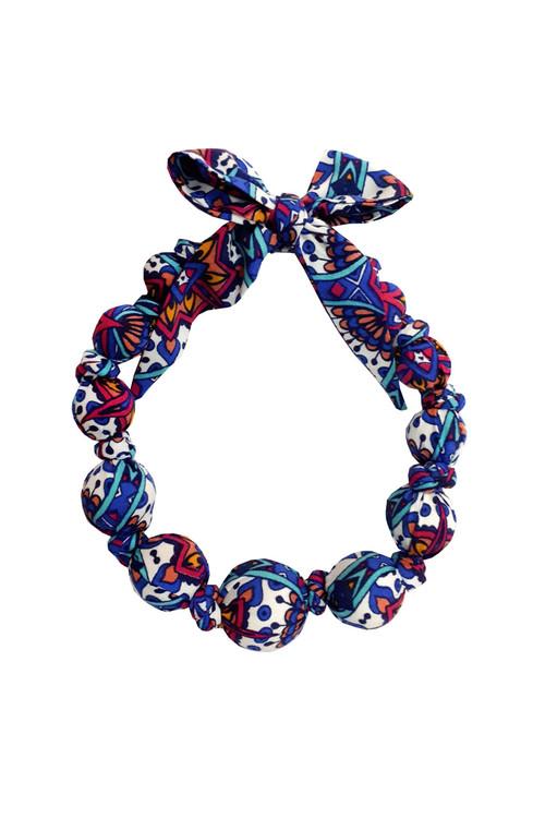 Sophie Catalou Girls Multi-print Wooden Bead Necklace