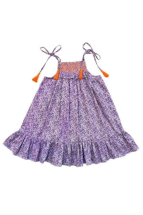 Sophie Catalou Girls Toddler & Kids Lilac floral Dress 2-8y