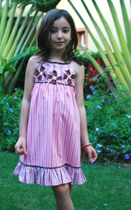 Sample Sale Rose Stripe Dress