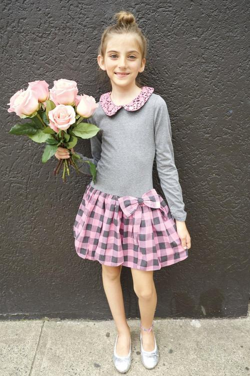 Sophie Catalou Girls Toddler & Kids Blush Emily  Dress 2-12y