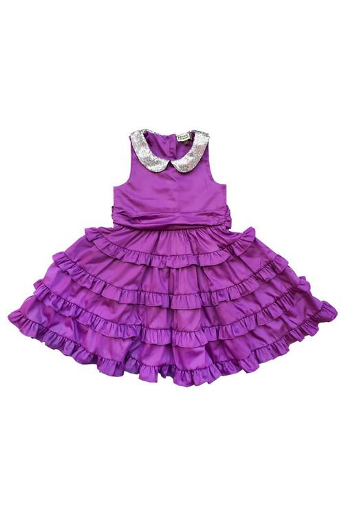 Sophie Catalou Girls Toddler & Kids Purple Betsy Dress 2-10y