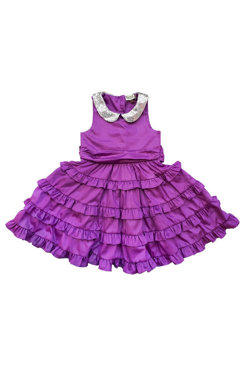 Sophie Catalou Girls Toddler & Kids Purple Betsy Dress 2-10y