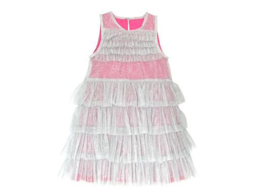 Sophie Catalou Girls Toddler & Kids Pink Lace Tier Masha A-Line Dress 14y