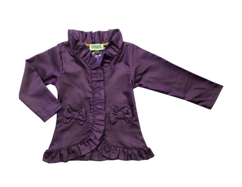 Sample Sale Purple Chambray Bow Jacket