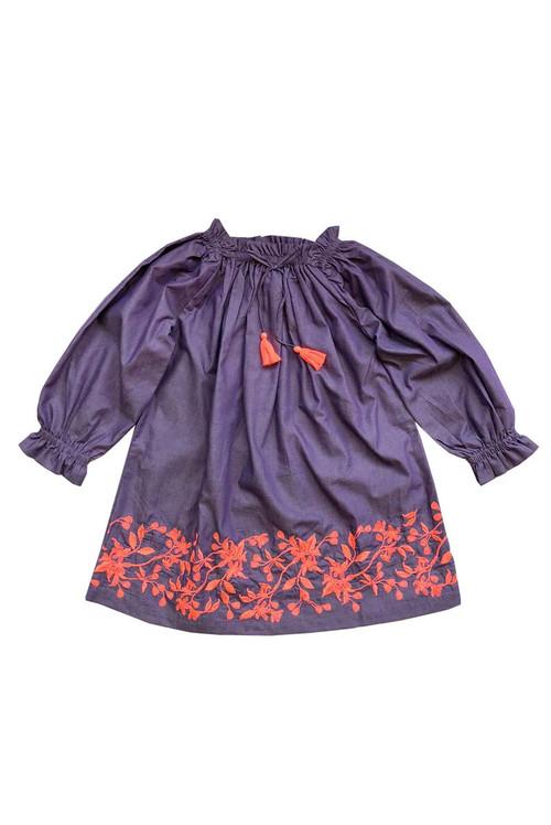 Sophie Catalou Girls Toddler & Kids Purple Karyn Dress 2-9/10y