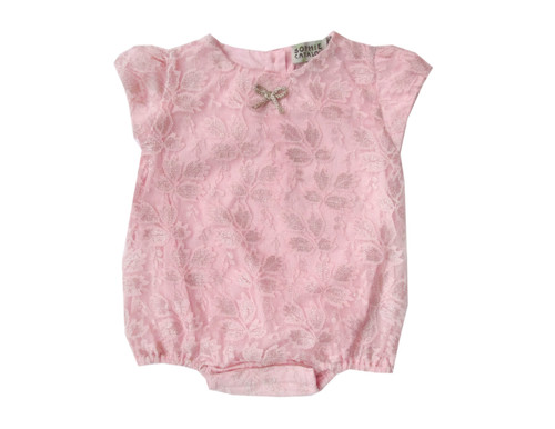 Sample Sale Pink Rose Metallic Romper