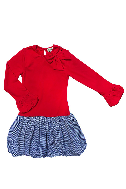 Sophie Catalou Girls Toddler & Kids Carnation Houndstooth Dress 3-8y