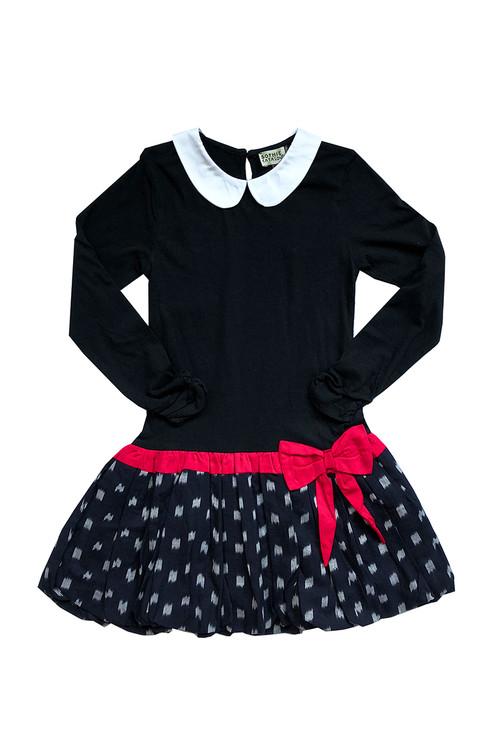 Sophie Catalou Girls Toddler & Kids Black Ikat Dress 2-10y