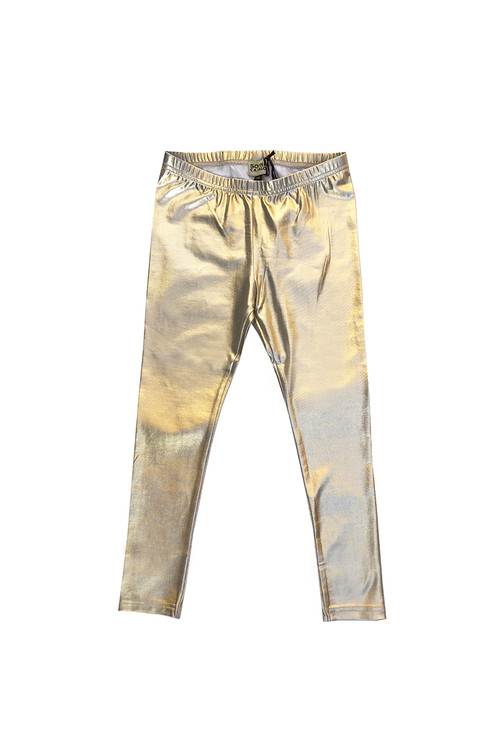 Sophie Catalou Girls Toddler & Kids Metallic Gold Leggings 2-10y