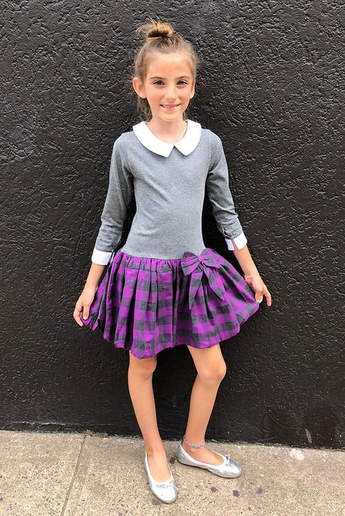 Sophie Catalou Girls Toddler & Kids Violet Emily  Dress 2-12y
