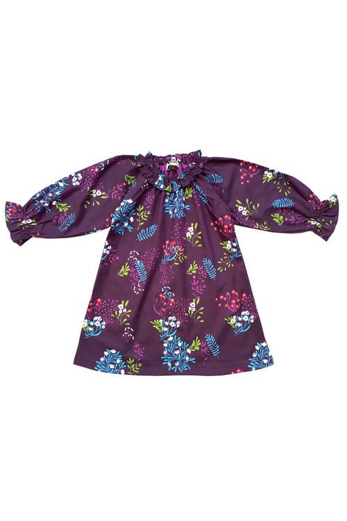 Sophie Catalou Girls Toddler & Kids Purple Teresa Raglan Dress 18m-10y