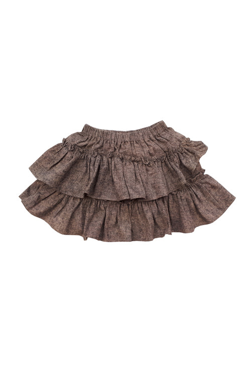 Sophie Catalou Girls Toddler & Kids Tweed Ruffle Short Skirt 2-12y