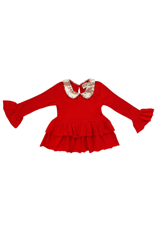 Sophie Catalou Girls Toddler & Kids Carnation Sequin Mia Top 2y