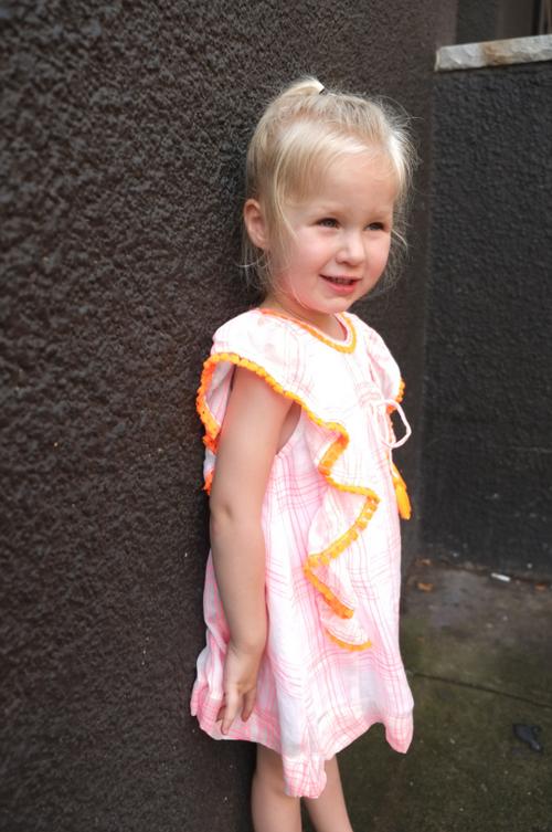 Sophie Catalou Girls Toddler & Kids Fluorescent Plaid Kate Dress  2-10y