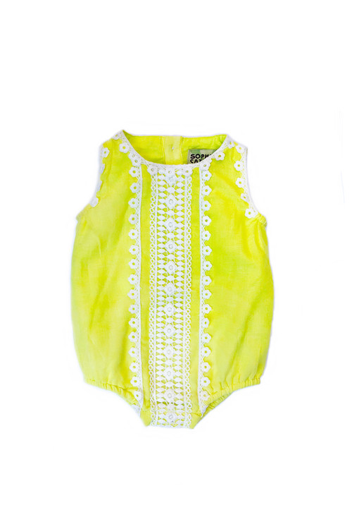 f9f25e6f26cc Sophie Catalou Infant Lemon Bubble Romper