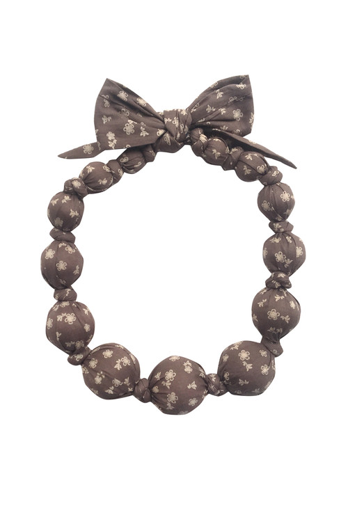 Sophie Catalou Girls Brown Star Wooden Bead Necklace