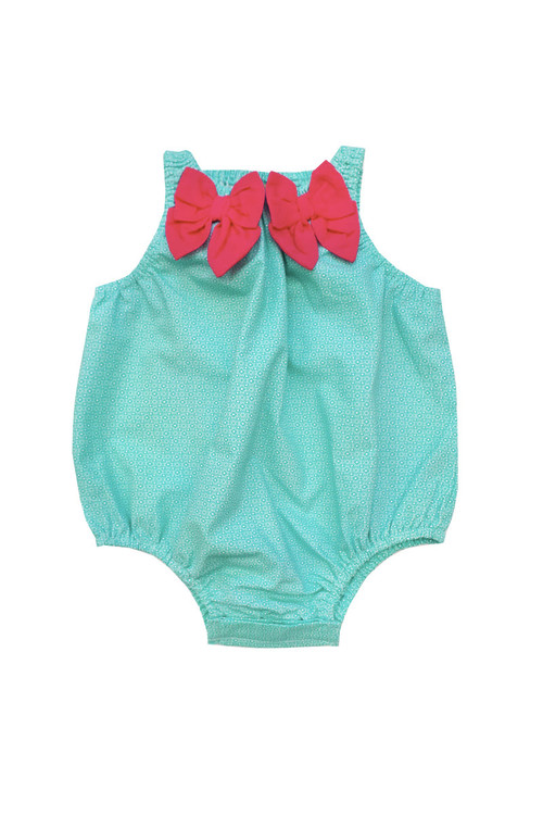 2e072ae5f012 Sophie Catalou Girls Infant Blue Ditsy Bubble Romper 3m-12m