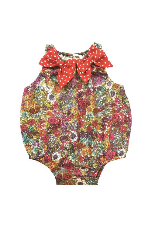 Sophie Catalou Girls Infant Maya Bubble Romper 3m-12m