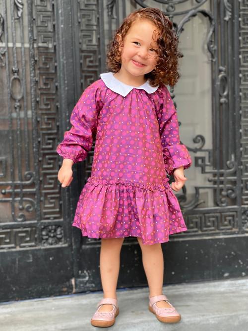 Sophie Catalou Girls Toddler & Kids Purple Linette Dress 2-8y
