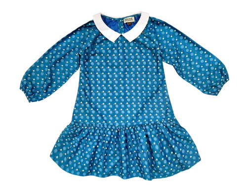 Sophie Catalou Girls Toddler & Kids Teal Vinchensa Dress 2-8y
