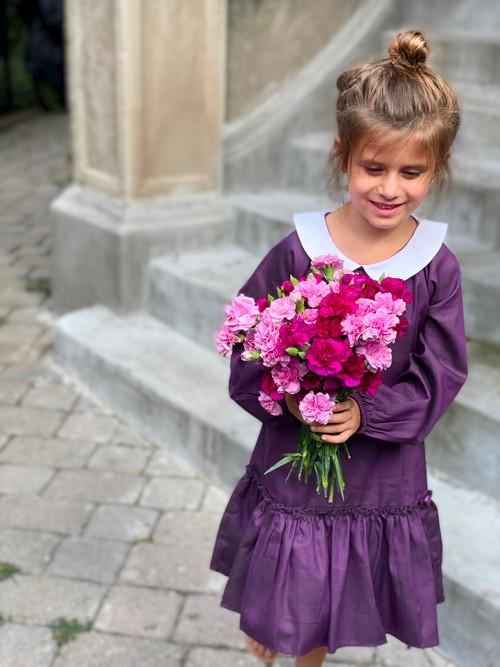 Sophie Catalou Girls Toddler & Kids Purple Mishka Dress 2-8y