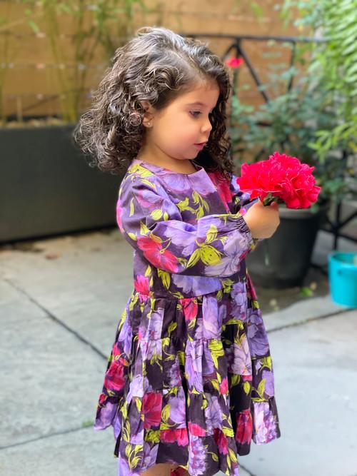 Sophie Catalou Girls Toddler & Kids Violet Alenka Dress 3-10y