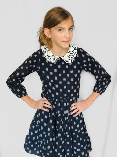 Sophie Catalou Girls Toddler & Kids Black Celeste Dress 3-8y